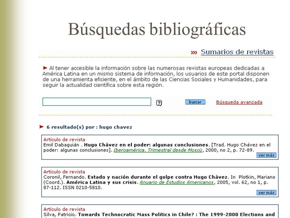 Búsquedas bibliográficas
