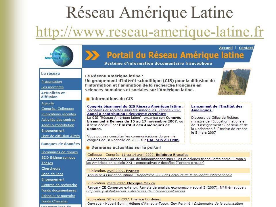 Réseau Amérique Latine http://www.reseau-amerique-latine.fr http://www.reseau-amerique-latine.fr