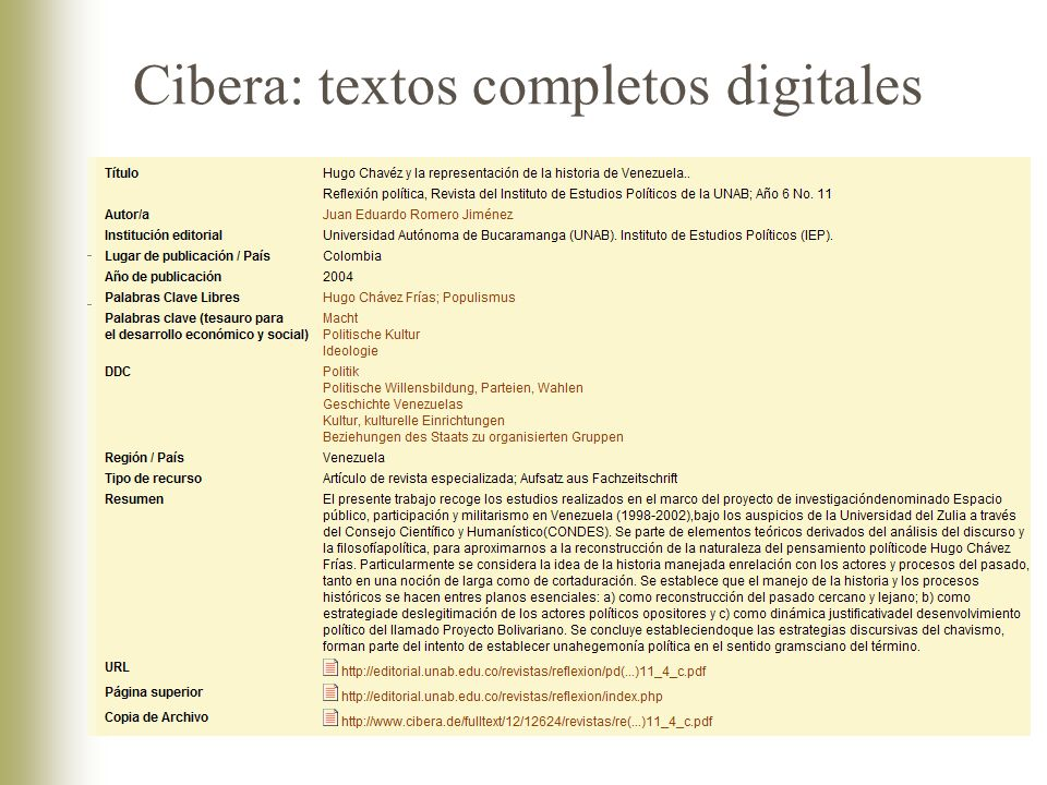 Cibera: textos completos digitales