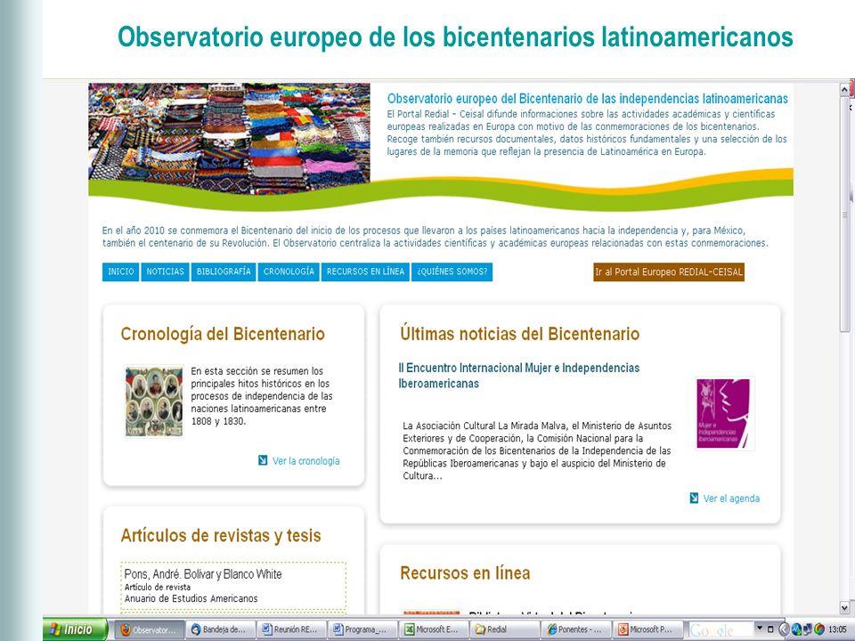 Observatorio europeo de los bicentenarios latinoamericanos
