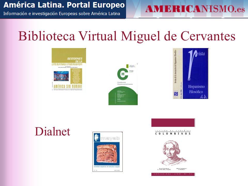 Biblioteca Virtual Miguel de Cervantes Dialnet
