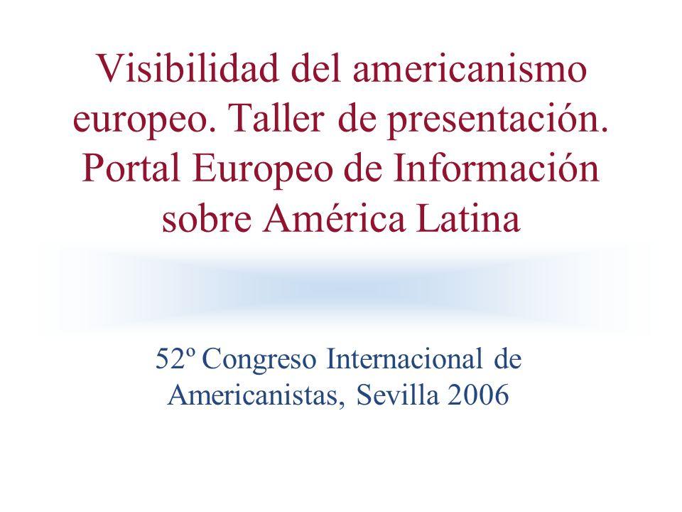 Visibilidad del americanismo europeo.Taller de presentación.