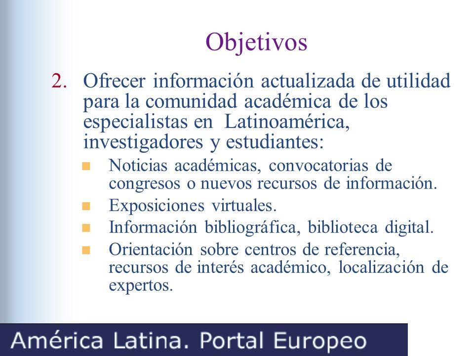 Contenidos y estructura Sistema de bases de datos: Noticias, Investigación, Docencia, Recursos y Enlaces.