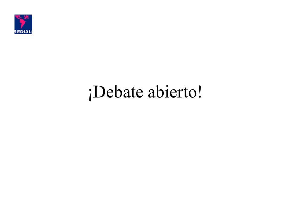 ¡Debate abierto!