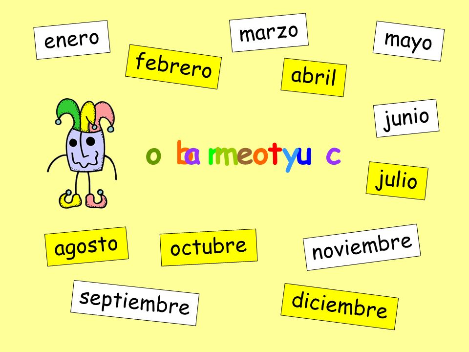f e r e b o r enero febrero marzo abril mayo junio julio agosto septiembre octubre noviembre diciembre o b r e t u c