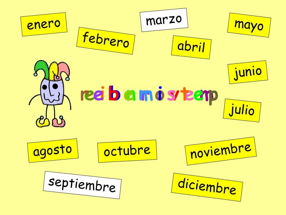 o n i u j enero febrero marzo abril mayo junio julio agosto septiembre octubre noviembre diciembre e i b n r o v e m