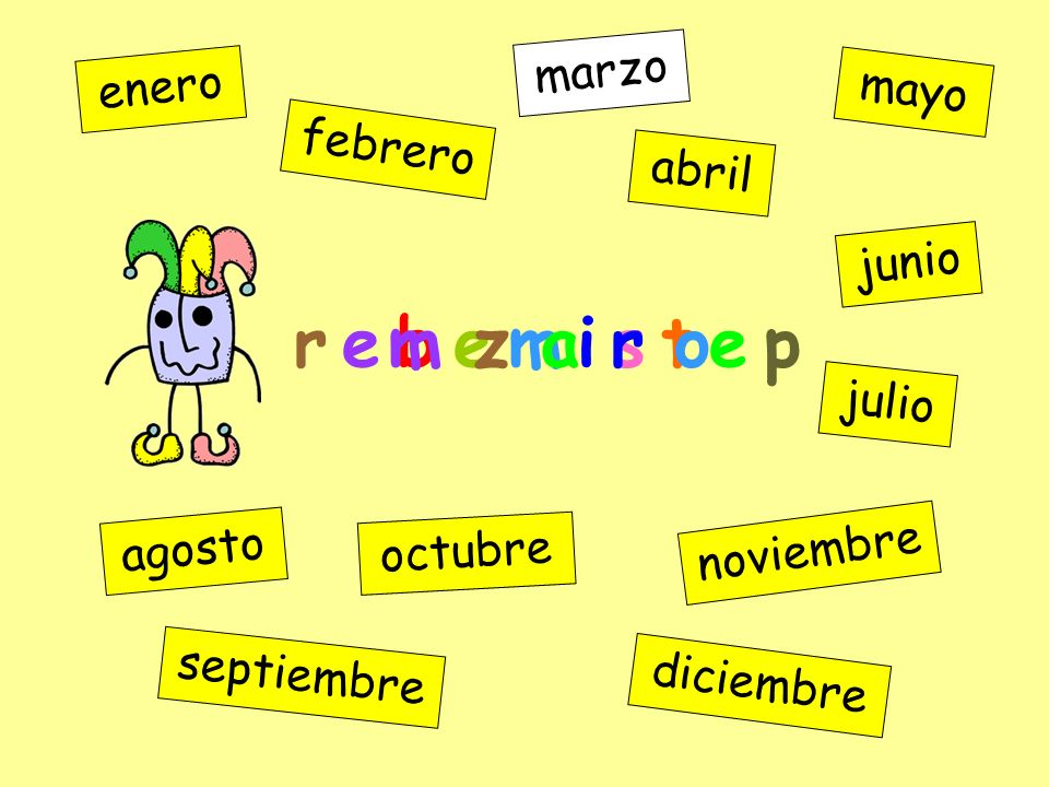 r e b e m i s t e p enero febrero marzo abril mayo junio julio agosto septiembre octubre noviembre diciembre