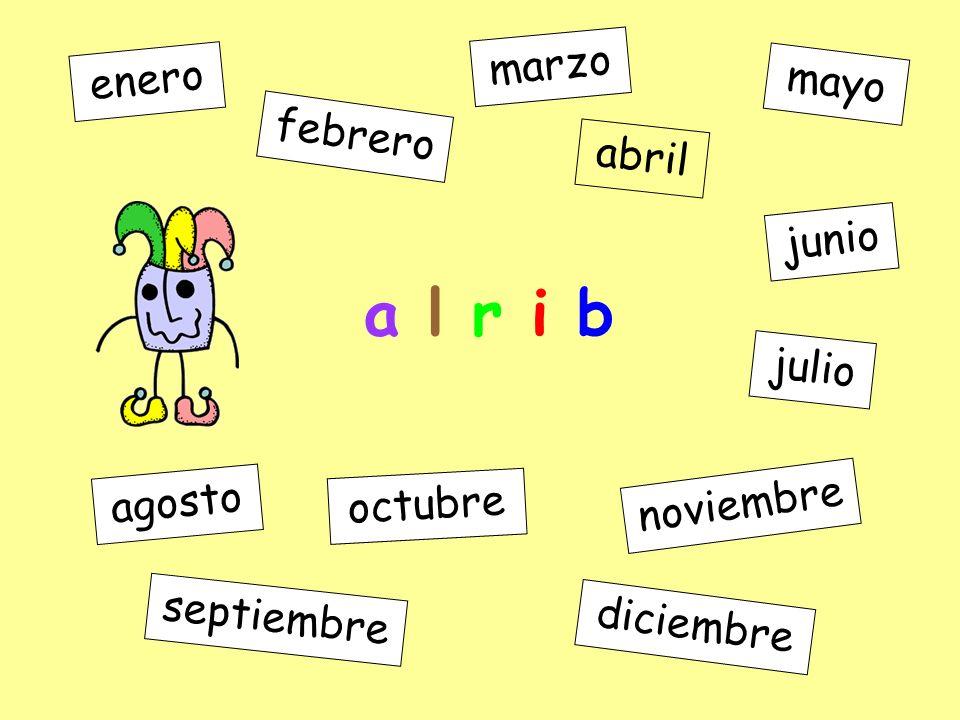 JAN FEB JUL MAR APR MAY JUN AUG SEP OCT NOV DEC enero febrero marzo abril mayo junio julio agosto septiembre octubre noviembre diciembre APR abril AUG