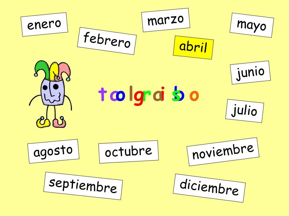a l r i b enero febrero marzo abril mayo junio julio agosto septiembre octubre noviembre diciembre