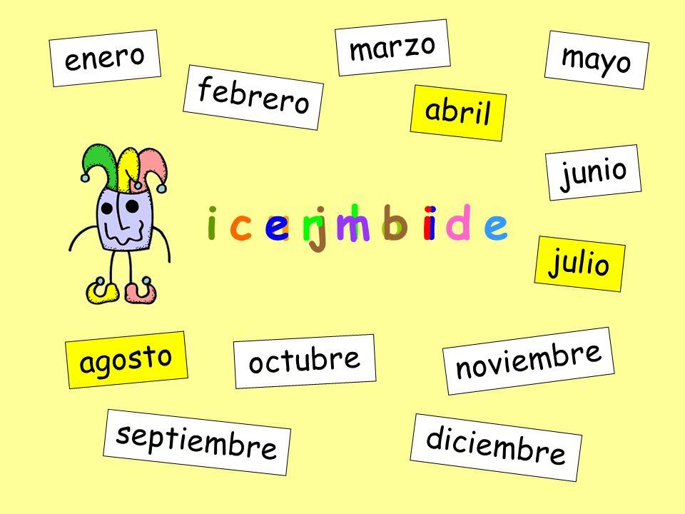 t o g a s o enero febrero marzo abril mayo junio julio agosto septiembre octubre noviembre diciembre u j l o i