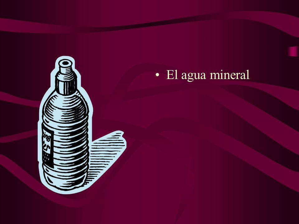 El agua mineral