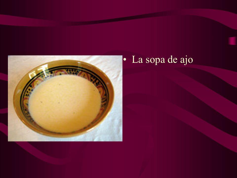 La sopa de ajo