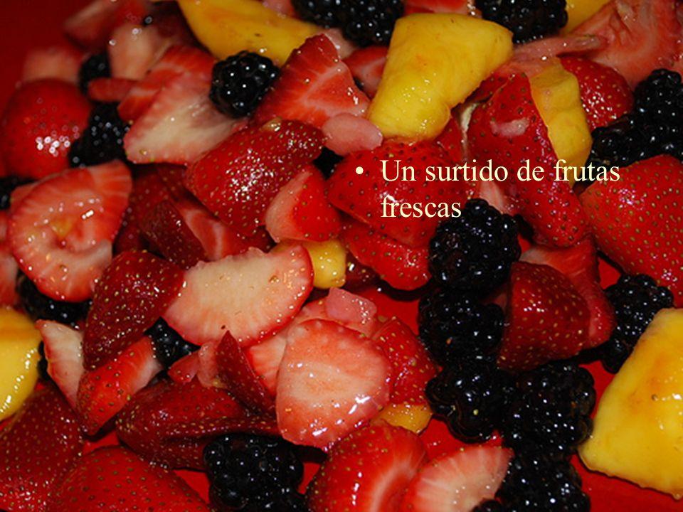 Un surtido de frutas frescas