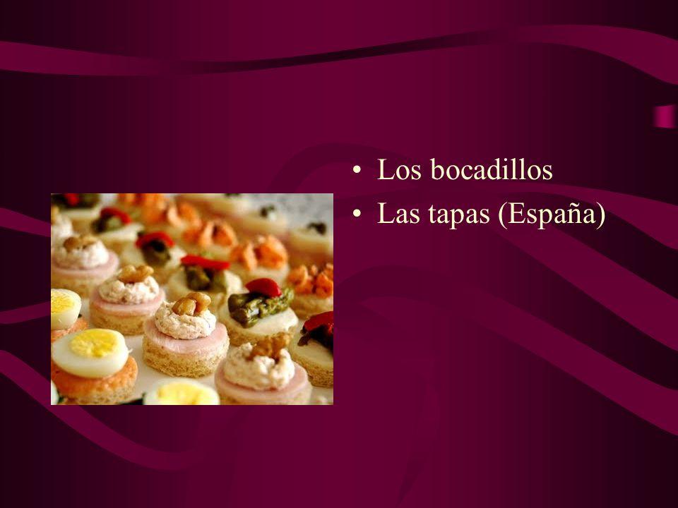 Los bocadillos Las tapas (España)
