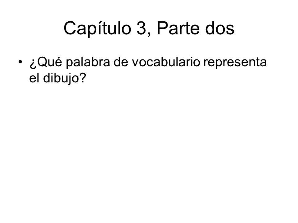 Capítulo 3, Parte dos ¿Qué palabra de vocabulario representa el dibujo