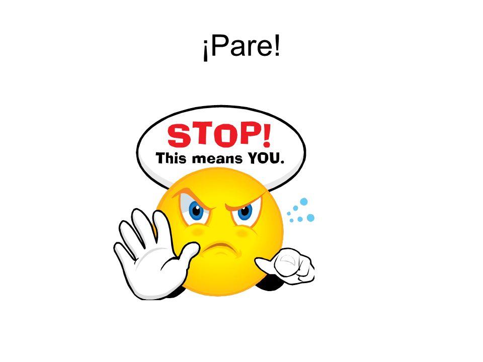 ¡Pare!