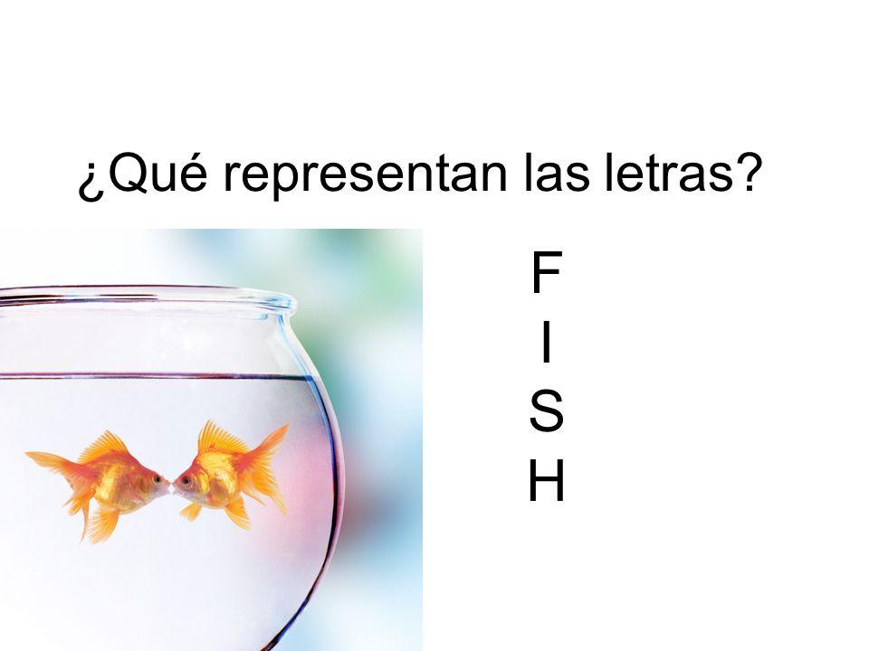 ¿Qué representan las letras? FISHFISH