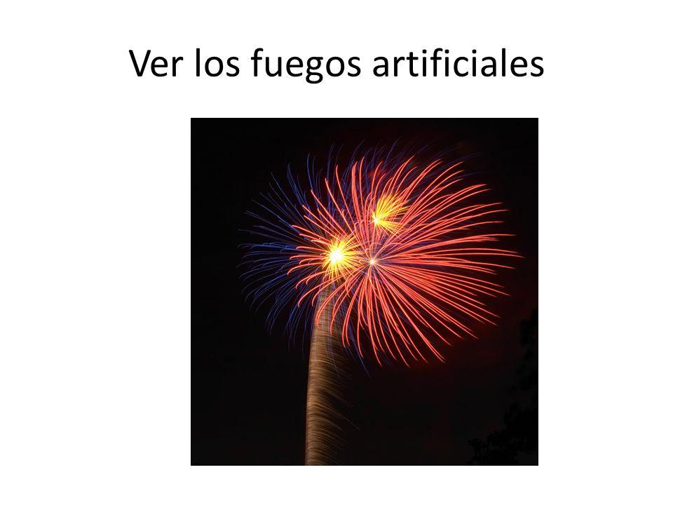 Ver los fuegos artificiales