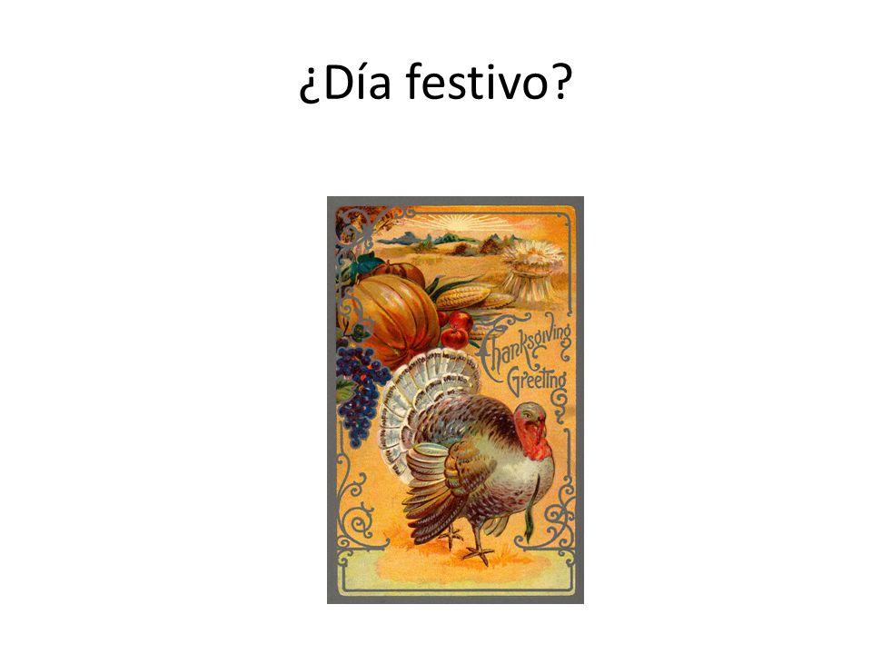 ¿Día festivo?