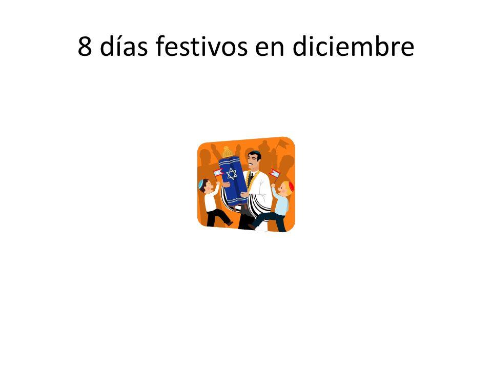 8 días festivos en diciembre