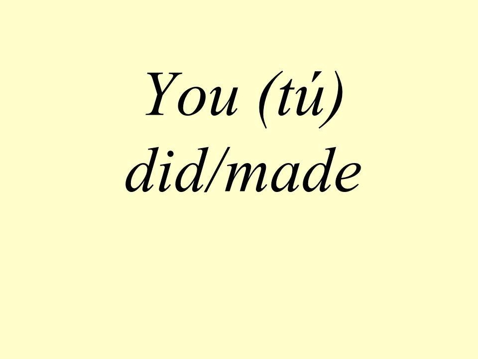 You (tú) did/made