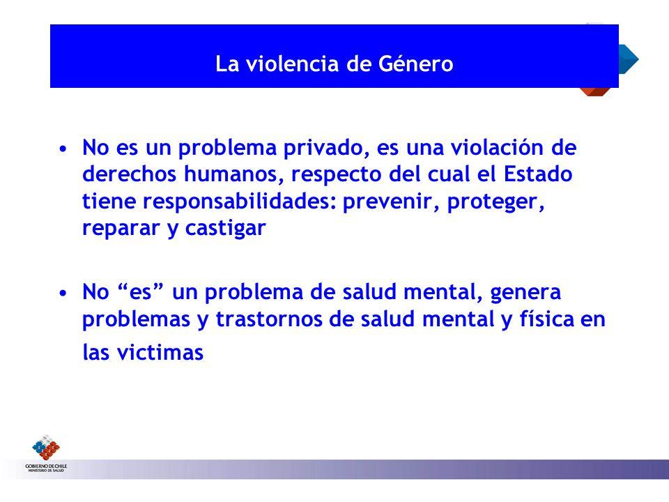 La violencia de Género No es un problema privado, es una violación de derechos humanos, respecto del cual el Estado tiene responsabilidades: prevenir,