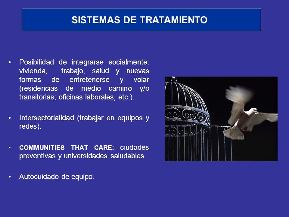 Posibilidad de integrarse socialmente: vivienda, trabajo, salud y nuevas formas de entretenerse y volar (residencias de medio camino y/o transitorias;