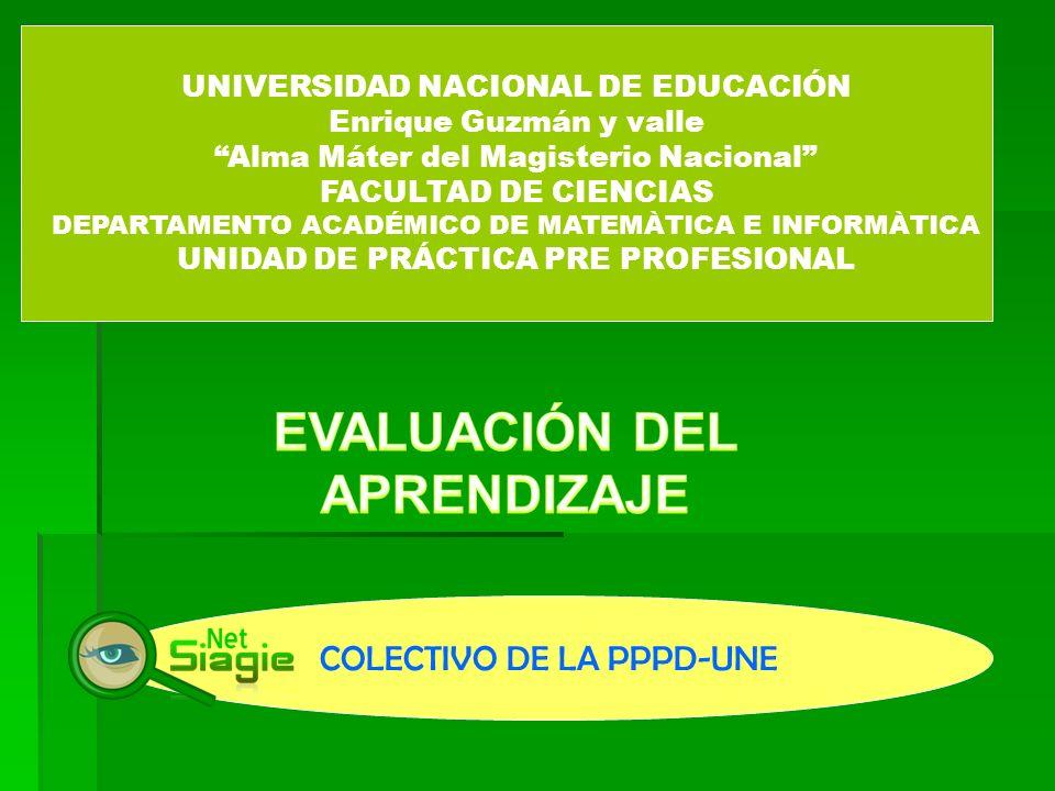 UNIVERSIDAD NACIONAL DE EDUCACIÓN Enrique Guzmán y valle Alma Máter del Magisterio Nacional FACULTAD DE CIENCIAS DEPARTAMENTO ACADÉMICO DE MATEMÀTICA