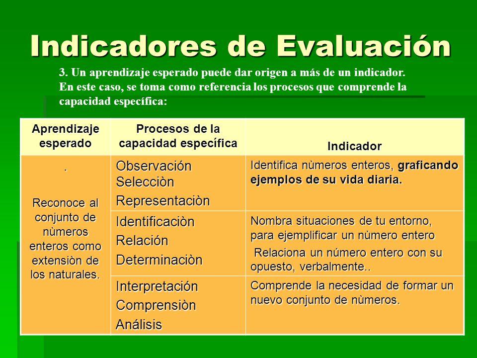 10 4.Los indicadores permiten evaluar el proceso y los resultados del aprendizaje.
