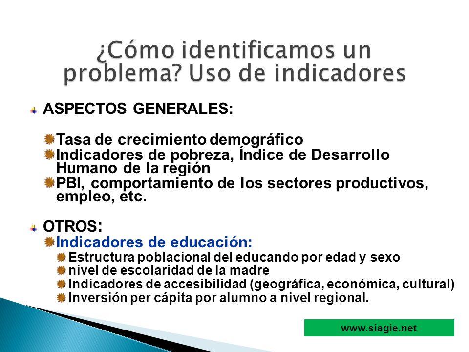 ASPECTOS GENERALES: Tasa de crecimiento demográfico Indicadores de pobreza, Índice de Desarrollo Humano de la región PBI, comportamiento de los sector