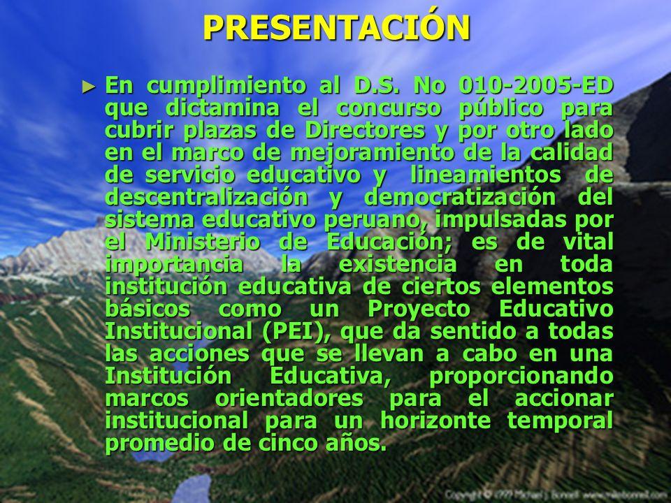 PROYECTO EDUCATIVO INSTITUCIONAL DE LA I.E.