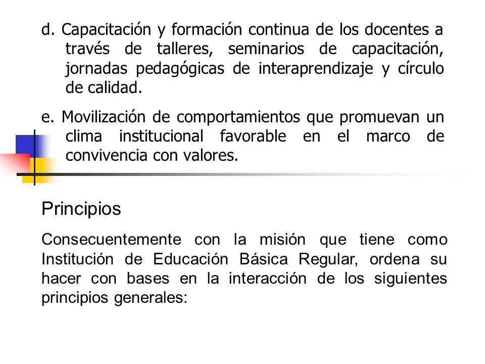 c.Características Educativas La IE.
