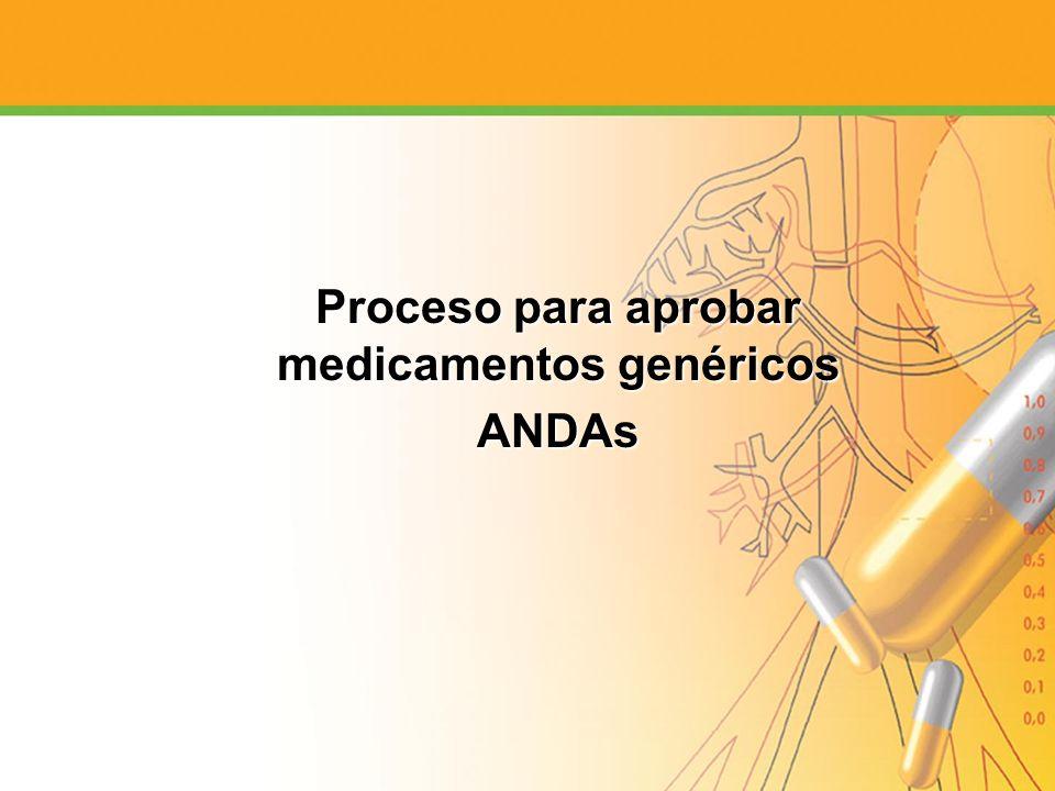 Proceso para aprobar medicamentos genéricos ANDAs