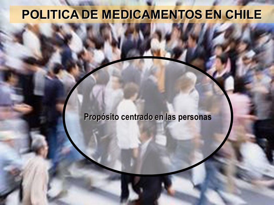 POLITICA DE MEDICAMENTOS EN CHILE Propósito centrado en las Propósito centrado en las personas