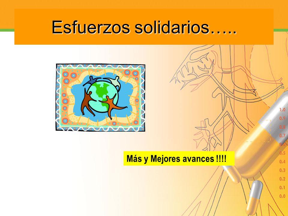 Esfuerzos solidarios….. Más y Mejores avances !!!!