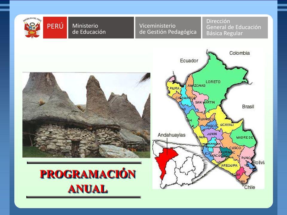 MINISTERIO DE EDUCACIÓN REPÚBLICA DEL PERÚ En la programación anual se organiza las unidades didácticas que se ha previsto desarrollar durante el año escolar en un grado específico.