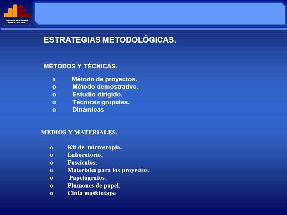 MINISTERIO DE EDUCACIÓN REPÚBLICA DEL PERÚ La evaluación será permanente e integral.