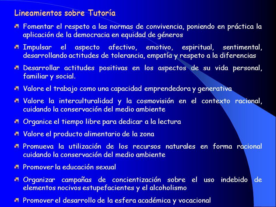 LINEAMIENTOS EDUCATIVOS Lineamientos sobre el Currículo Articular temas Transversales con los contenidos, valores, actitudes y capacidades fundamental