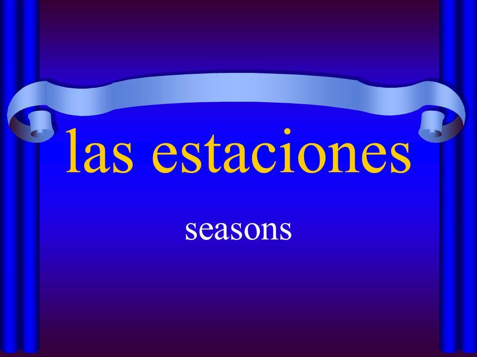 las estaciones seasons