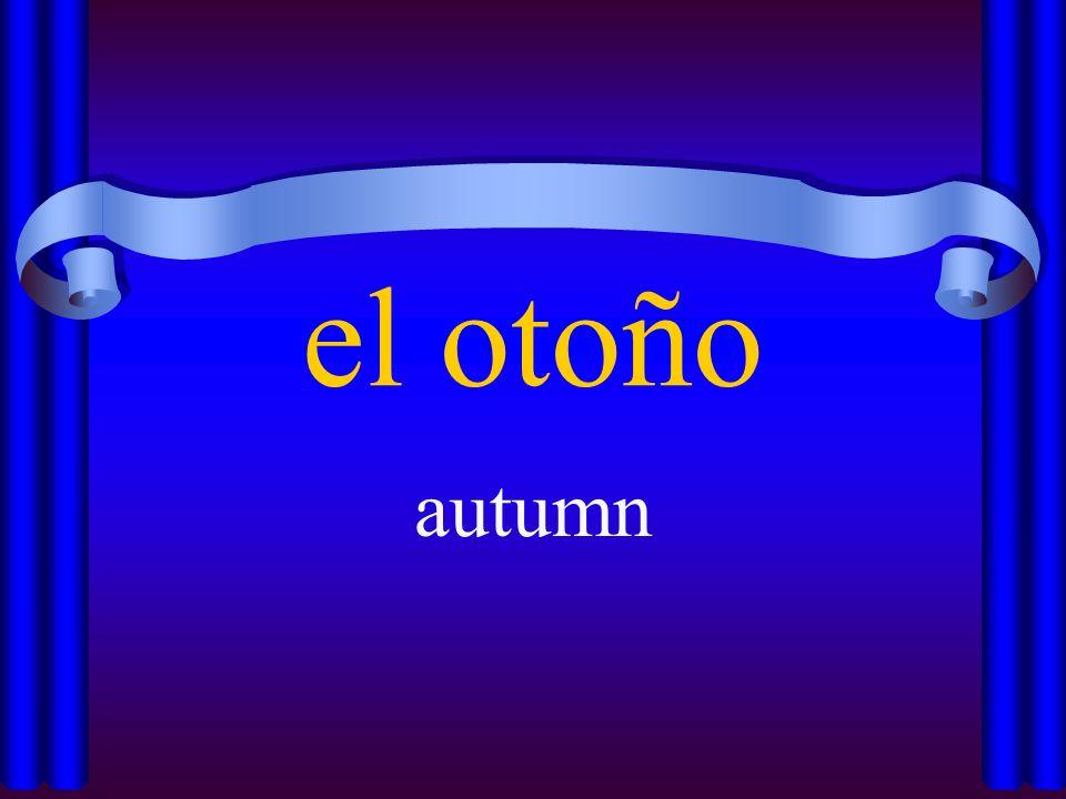 el otoño autumn