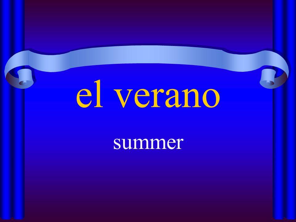 el verano summer