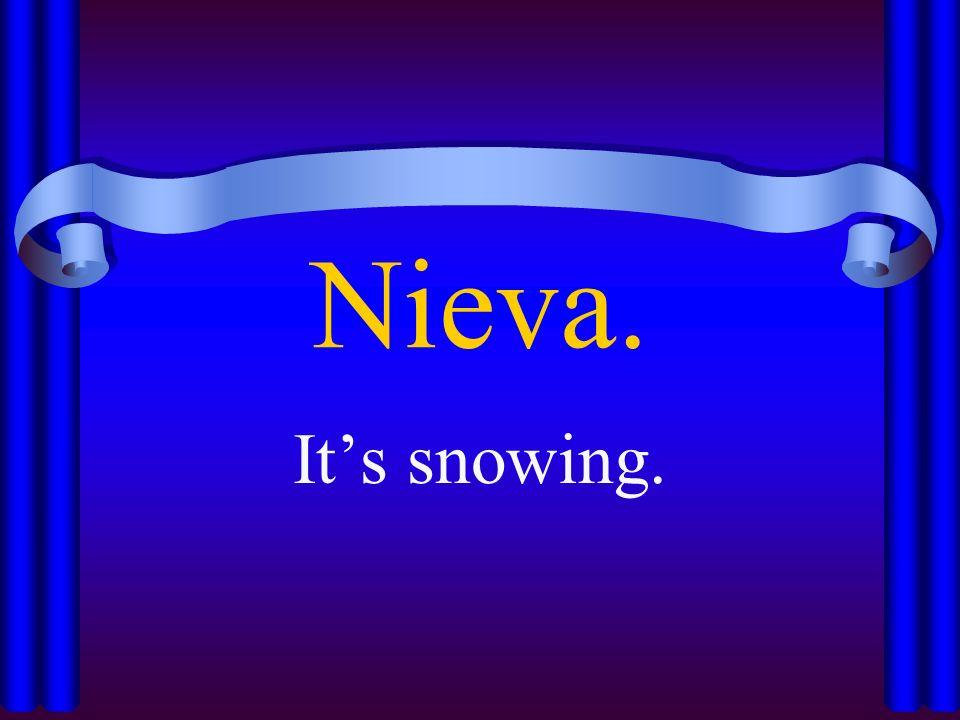Nieva. Its snowing.