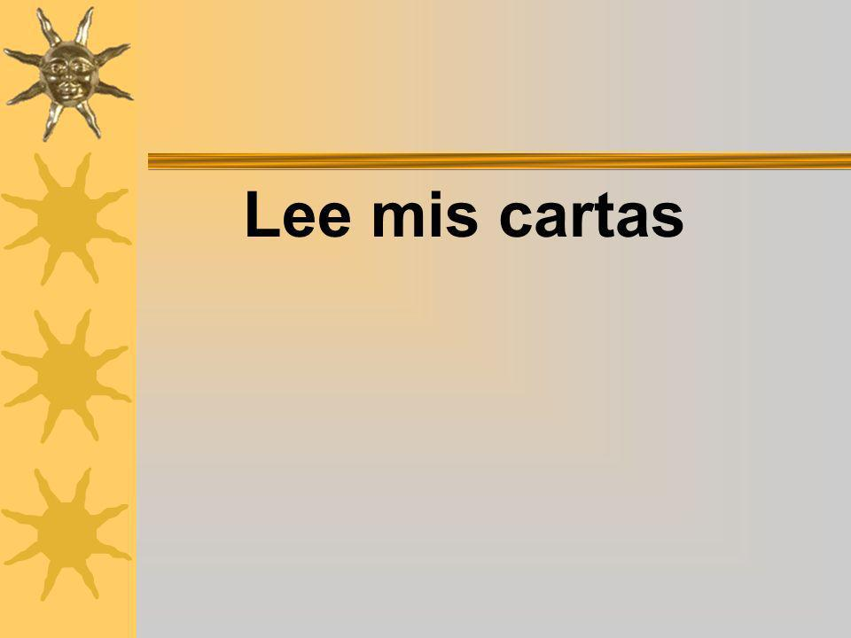 Lee mis cartas