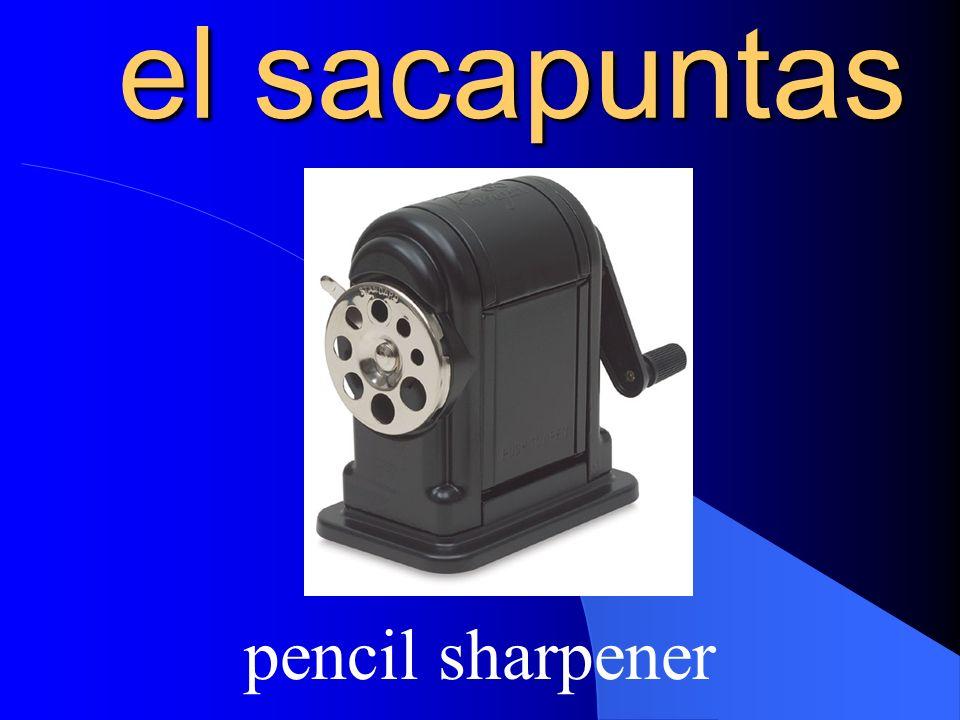 el sacapuntas pencil sharpener