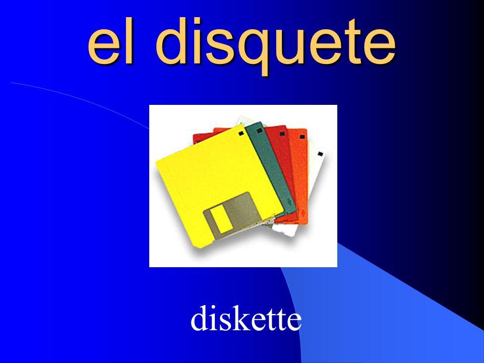 el disquete diskette
