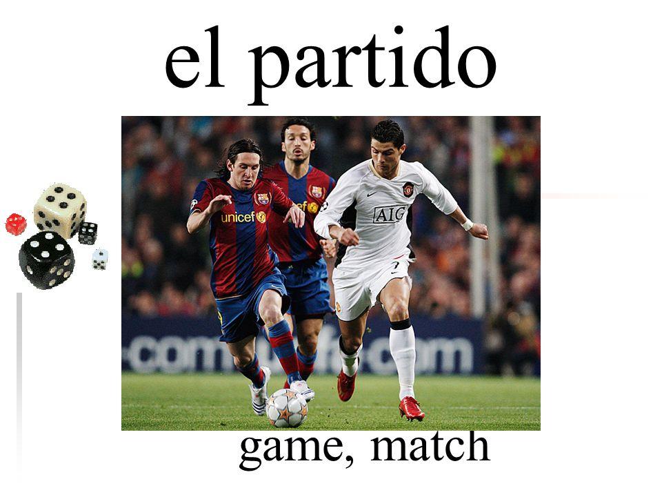 el partido game, match