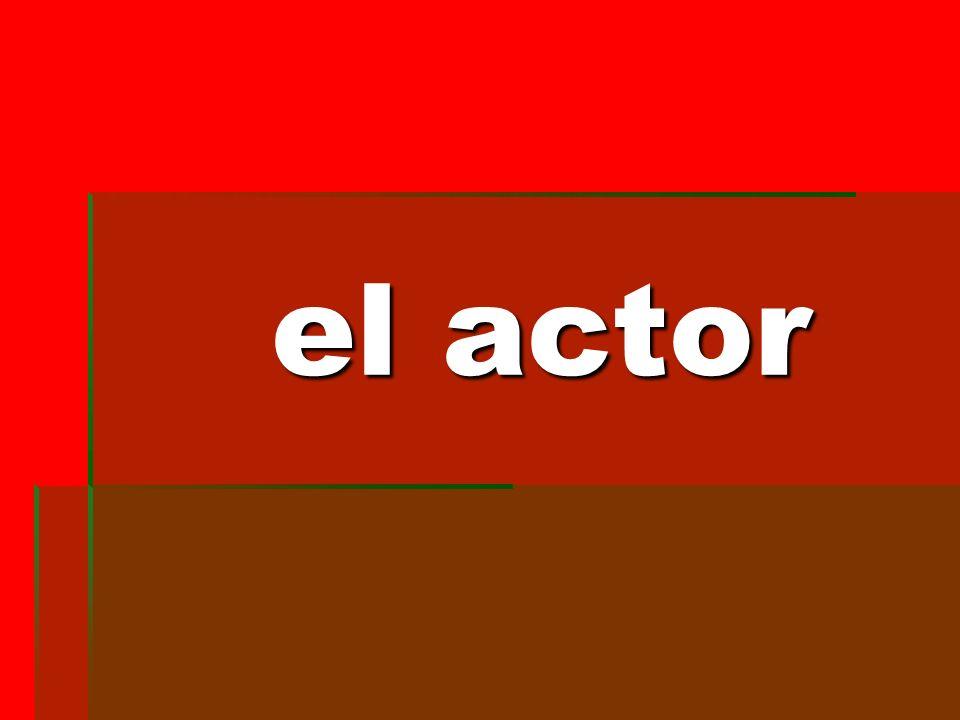 el actor el actor
