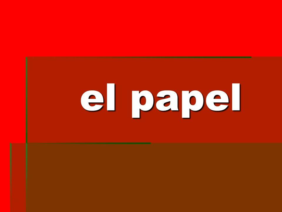 el papel el papel