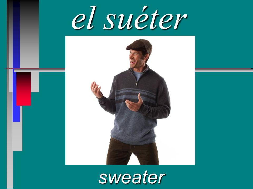 el suéter sweater