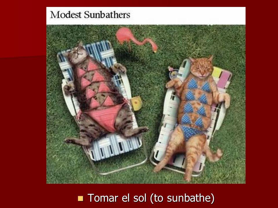 Tomar el sol (to sunbathe) Tomar el sol (to sunbathe)